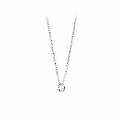 Mabina 553013 argento zirconie punto luce collana  donna  Mariana Rodriguez