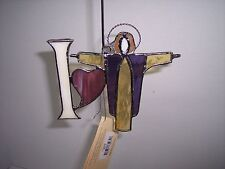 "Stained Glass Suncatchers, ""I Love The Lord""  5"" T x 5"" W,Suncatcher"
