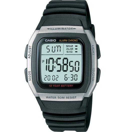 Casio W96H-1AV, Classic, Digital Chronograph Watch, Alarm, 10 Year Battery