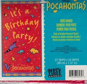 Pocahontas Vintage Door Banner Birthday Party Supplies Disney