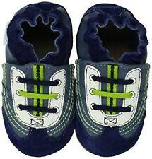NIB ROBEEZ Shoes Braedon Navy Blue Lime Green 0-6m 1 2