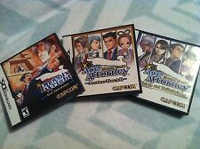 Ace Attorney Justice For All Trials & Tribulations Nintendo DS Collection Lot