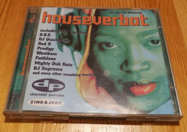 Houseverbot - Various Artists,Sampler, 2x CD, westbam, prodigy, faithless,b.b.e.