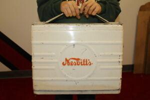 Rare-Vintage-1950-039-s-Nesbitt-039-s-Orange-Soda-Pop-Picnic-Cooler-Metal-Sign