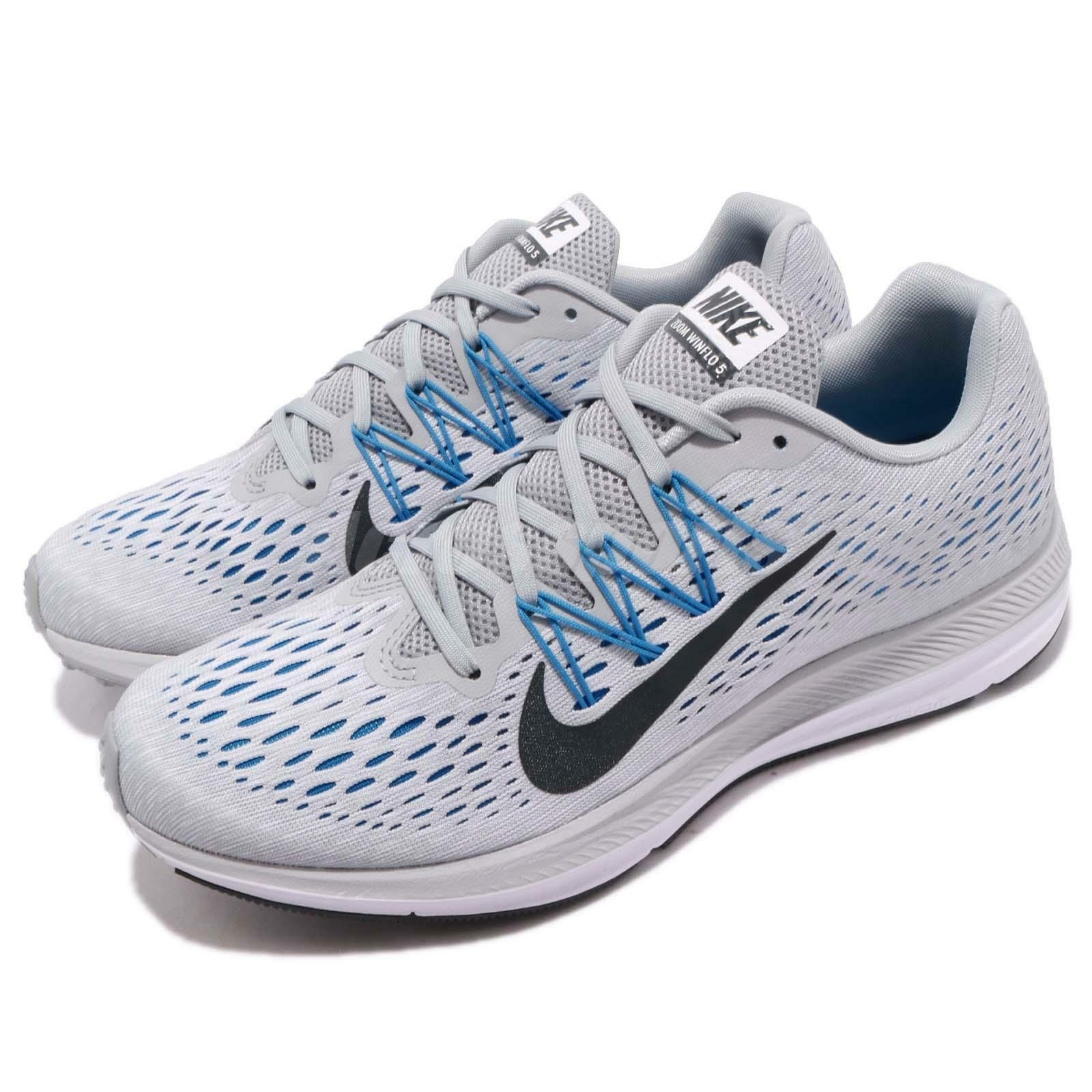 Nike Zoom Winflo 5 V Grey blueee Anthracite Men Running shoes Sneakers AA7406-003
