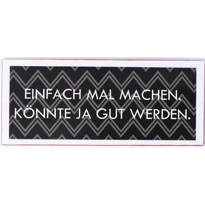 Blechschild DO NOT ENTER Metallbild Vintage Wandschild Schild im Retro Look