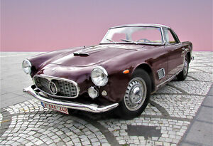 Maserati-3500-GT-Coupe-Car-Poster-Car-Print-Exotic-Car-Photo-Wall-Art