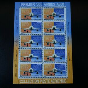 Feuille-Sheet-Stamp-post-Aerial-Pa-N-65-x10-2002-Neuf-Luxe-Mnh
