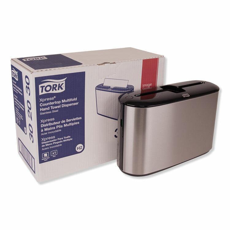 Tork® Xpress Countertop Towel Dispenser  12.68 x 4.56 x 7.92  Stainless Steel