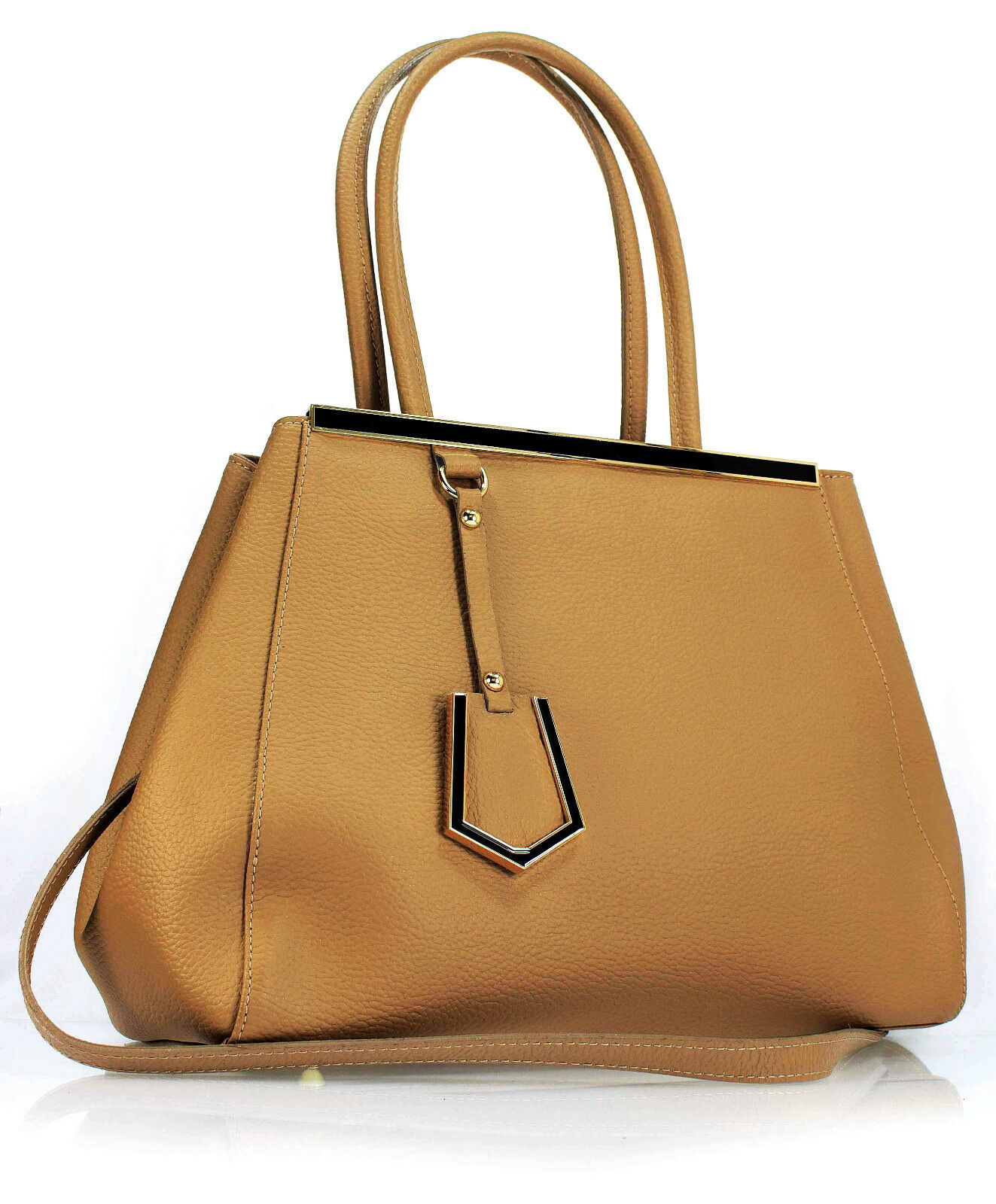Ital. Echt Echt Echt Leder Damen Tasche Ledertasche Handtasche Schultertasche taupe   Perfekt In Verarbeitung    Sonderangebot    Bunt,  6d1503