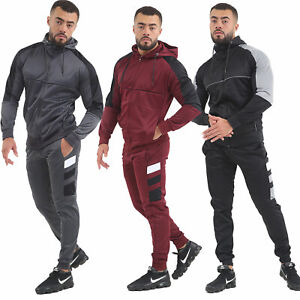 Fashions-Mens-Scuba-Panel-Polyester-Tracksuit-Set-New-Slim-Fit-Cord-Hoodie-Top