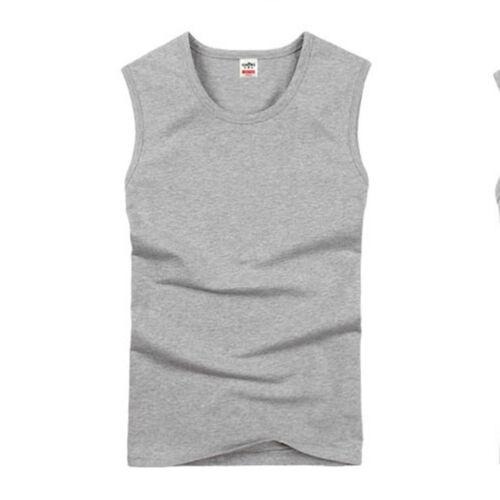 Men Slim FIt Muscle Stringer Tank Vest Sport Gym Bodybuilding T-Shirt Summer Tee
