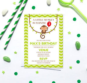 Image Is Loading Jungle Themed Birthday Party Invitations Any Age Pack