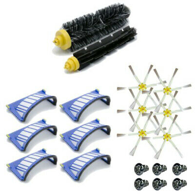 6X Filter Main Extractor Brush For IRobot Roomba 665 680 690 Replacement Parts
