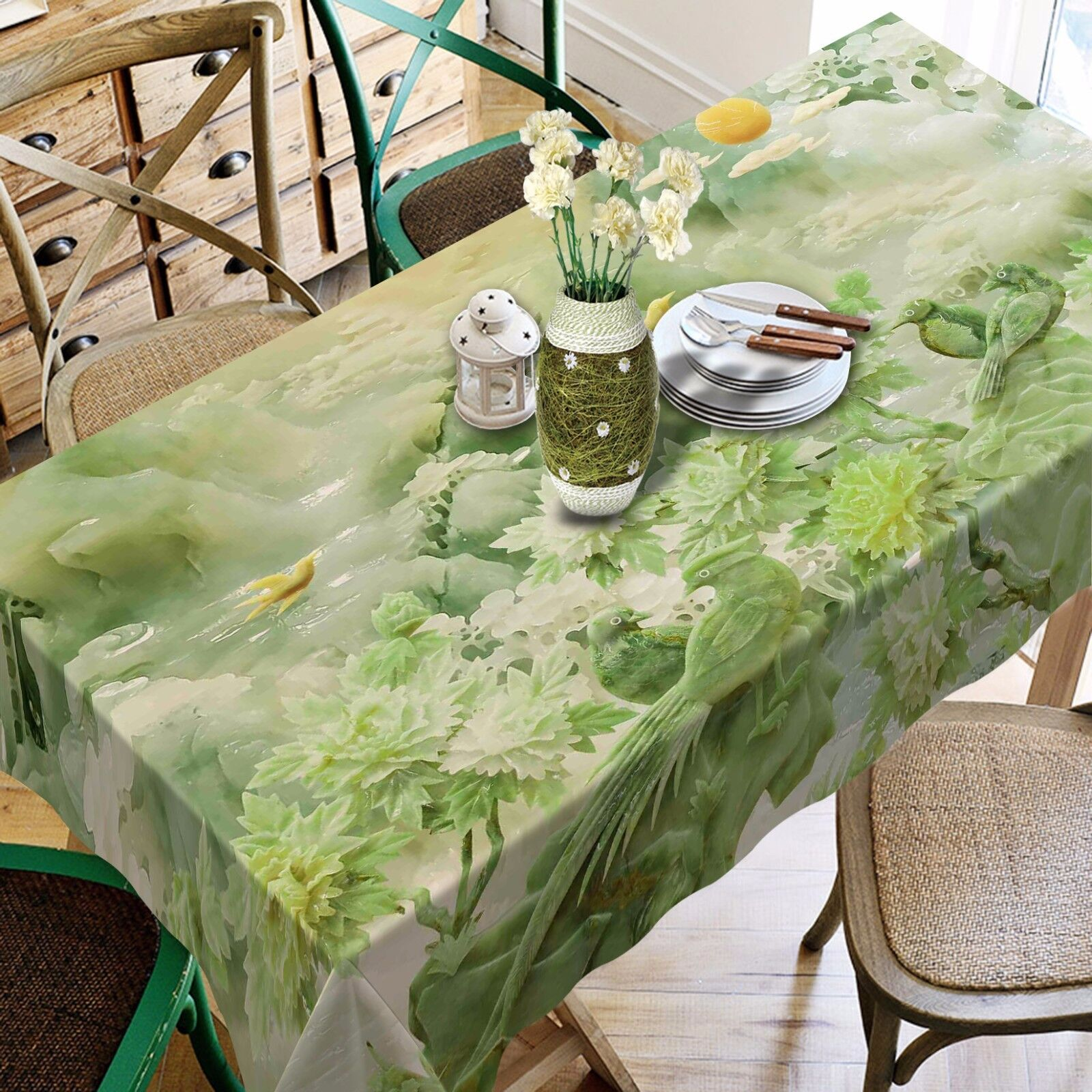 3D Grün hill8 Tablecloth Table Cover Cloth Birthday Party Event AJ WALLPAPER UK