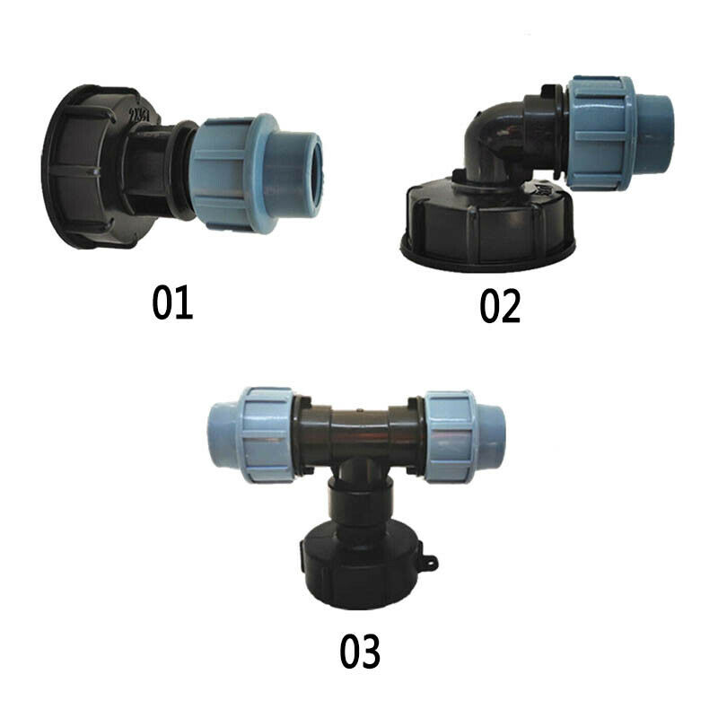 3 Types Water Tank Adapter to Pipe Fittings for IBC Water Tanks Hose Connector
