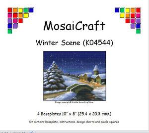 MosaiCraft-Pixel-Craft-Mosaic-Art-Kit-039-Winter-Scene-039-Pixelhobby
