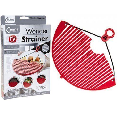 WONDER STRAINER Pot//Pan//Bowl Draining Sieve//Colander Adjustable Kitchen Drainer