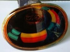ELO Belt Buckle 1977 Pacifica Mfg Electric Light Orchestra LA Cal *Free Ship*