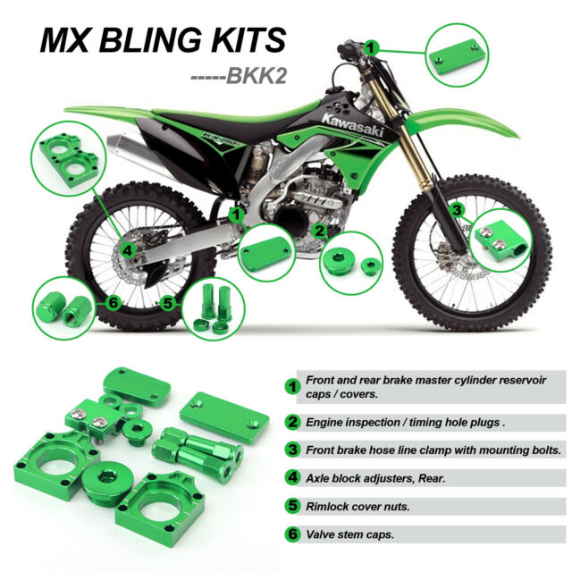 MX Kawasaki Kx250f KXF 250 Motocross Dirtbike Bling Kits 2008 2009