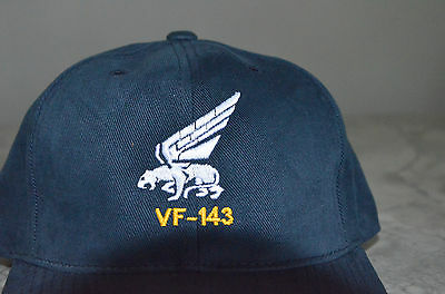 VF-41 or VFA-41 Black Aces Wings Embroidered Squadron Hat