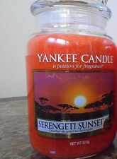 Yankee Candle  Serengeti Sunset  22 oz Lot of 2  NEW Fall Scent Free Shipping.