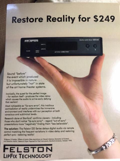 Felston DD740 for lip-sync correction (damaged packagng) Full Warranty (1 year)