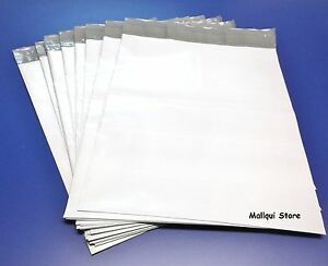 100-MAILER-7-5x10-5-WHITE-POLY-MAILING-PLASTIC-ENVELOPES-SHIPPING-BAGS-2-5-Mil