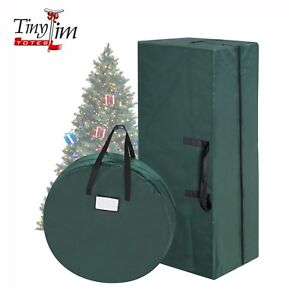 Christmas Tree Storage.Details About Green Canvas Up To 9 Ft Christmas Tree Storage Bag 30 Inch Wreath Bag Combo