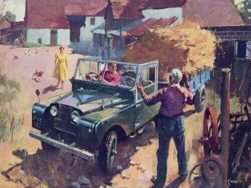 LAND ROVER 1954-1956 SERIES-I /'86/' RETRO POSTER PRINT CLASSIC ADVERT A3 !!!!!