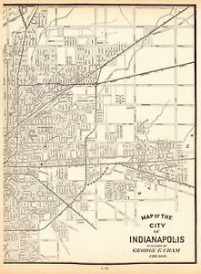 Details about 1903 Antique INDIANAPOLIS MAP Crams Map of Indianapolis on ohio map, fort wayne map, phoenix map, st paul map, north carolina map, indiana map, broad ripple map, castleton in map, usa map, united states map, oklahoma city map, kansas city map, albany map, georgia map, shelbyville in map, chicago map, virginia map, terre haute map, kentucky map, illinois map,
