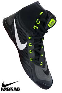 Nike hypersweep Men's Wrestling Chaussures Boxe MMA Combat Chaussures De Sport Bottes Noir