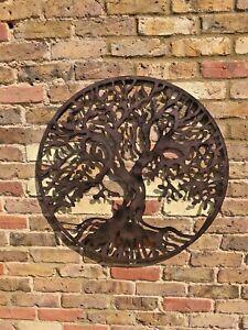 Tree Of Life Garden Wall Art Ornament Fence Metal Gift Present In Outdoor Ebay