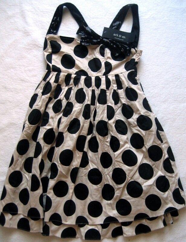 2ad654dfbf15dc ARK & CO Damenkleid Hellbraun mit schwarzen Punkten Gr. S NEU  nwthmk4508-neue Kleidung