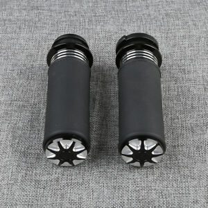 1-034-Black-Electric-Handlebar-Bar-Grips-Fit-For-Harley-Road-Glide-FLTR-2008-2019
