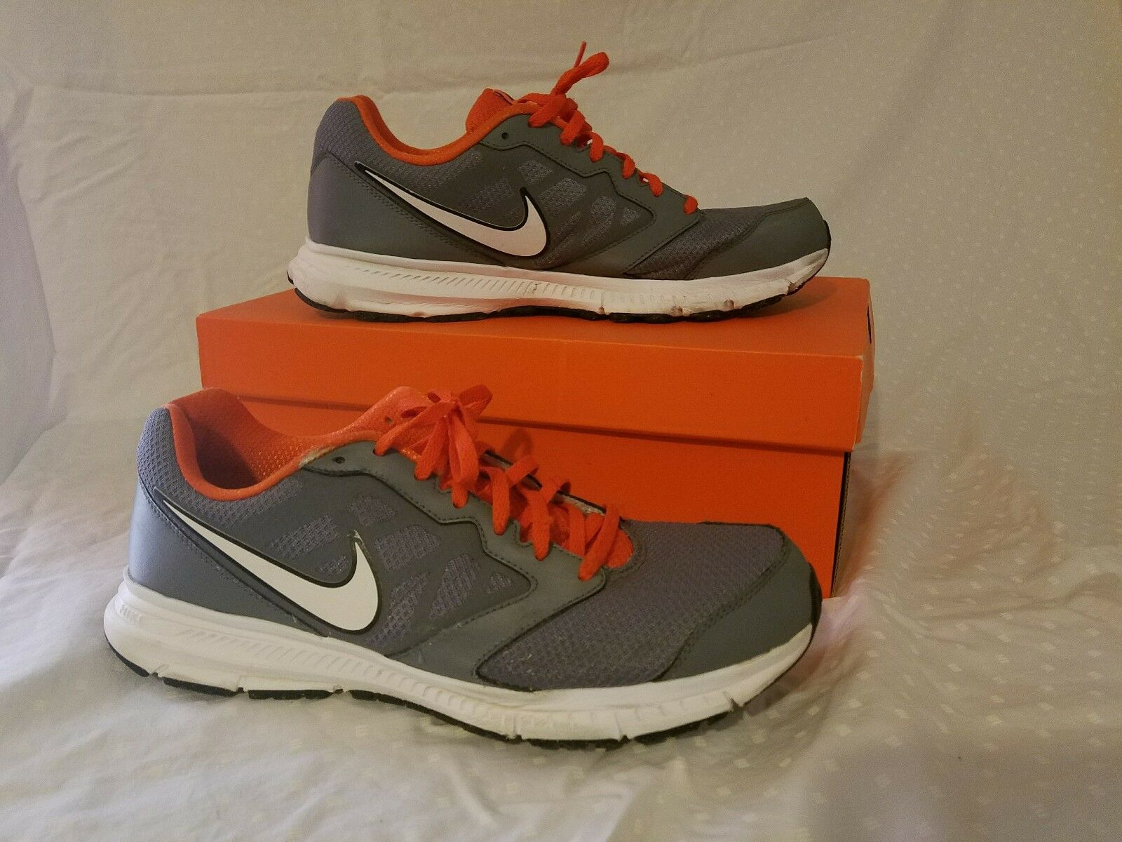 MEN'S NIKE DOWNSHIFTER 6 RUNNING SHOES!!! IN GRAY ORANGE BLACK WHITE!!! Special limited time