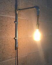 Vintage Retro Industrial Farmhouse Rustic Light Fitting Pipe Wall Lighting Plug