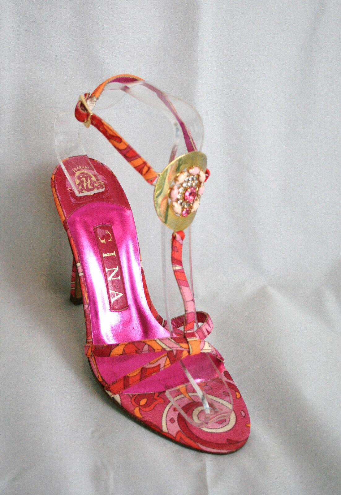 Fantastic Gina pink and orange sandals ,  UK 3, BNWT,    (3246)