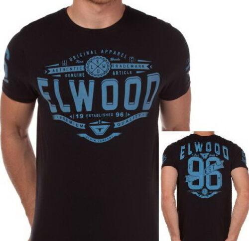 ELWOOD CLAIREMONT Mens Brand New Premium Top T-Shirt Tee Size M L XL XXL black