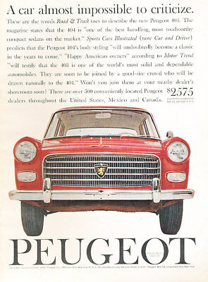 1961 Renault Gordini road Classic Advertisement Ad P40