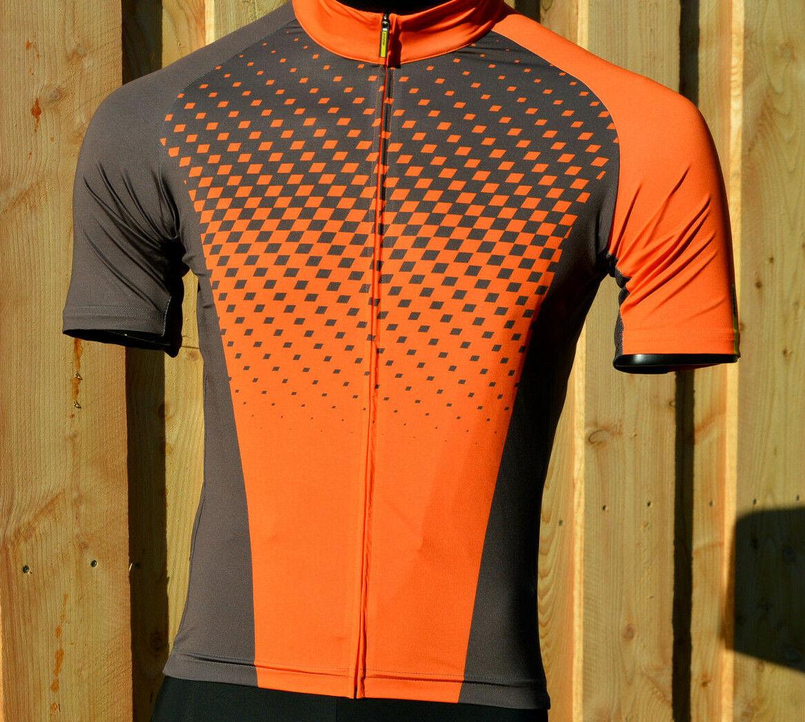 Mavic crossmax XM elite manga corta camiseta bicicleta MTB Bike marrón-naranja%%%