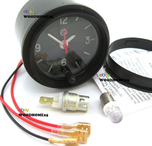 Car Dashboard 12v Black Bezel Clock Automotive Backlight LED Light Bulb Set