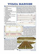 BUILDING MODELS OF 3 DIFFERENT STYLE BARGES - BOOKLET (for large scale modelers)