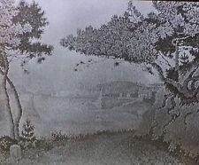 """Golfe Juan"", Paul Signac, Magic Lantern Glass Art Slide"