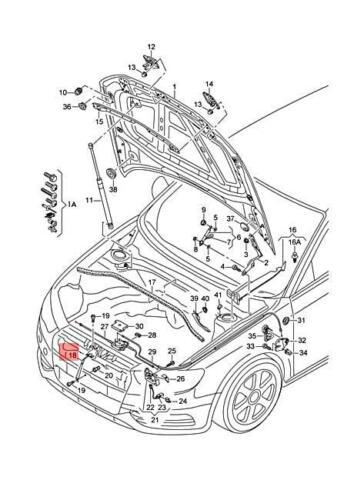 quattro 8V5823485 Genuine Catch hook AUDI A3 Cabriolet S3 Sportback Lim