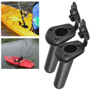 2 Kayak Flush Mount Fishing Rod Holders with Padeye and Gasket 6 FREE Rivets