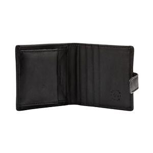 Nuvola-Pelle-Portafoglio-uomo-piccolo-Pelle-Nero-con-Bottone-Portamonete-e-Carte