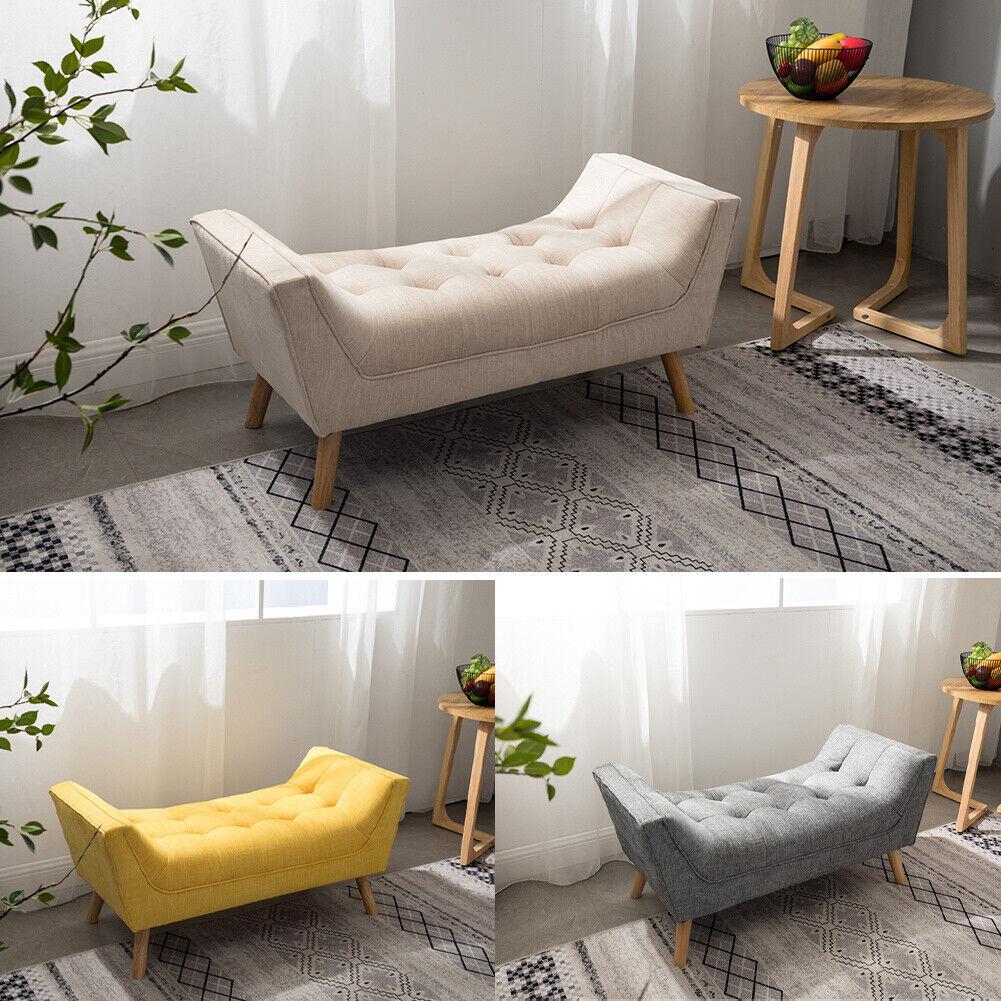 - Velvet Window Seat Sofa Bench Storage Stool Chaise Lounge Chair