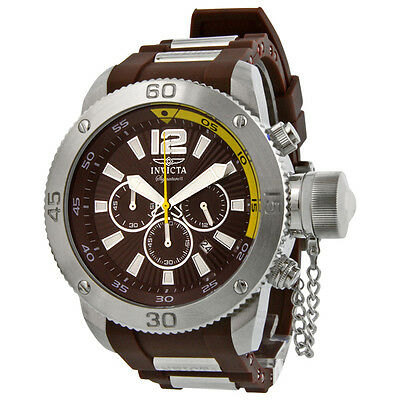 Invicta Signature II Russian Diver Brown Dial Chronograph Mens Watch 7426