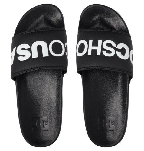 Nouveau Slide Noir À Enfiler Tongs Sandales De Plage 9 S 43//B DC Chaussures homme Curseurs